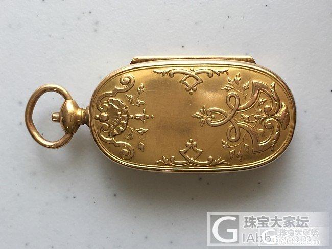 欧洲古典金币盒子,也是一个吊坠,18K金_古董首饰金