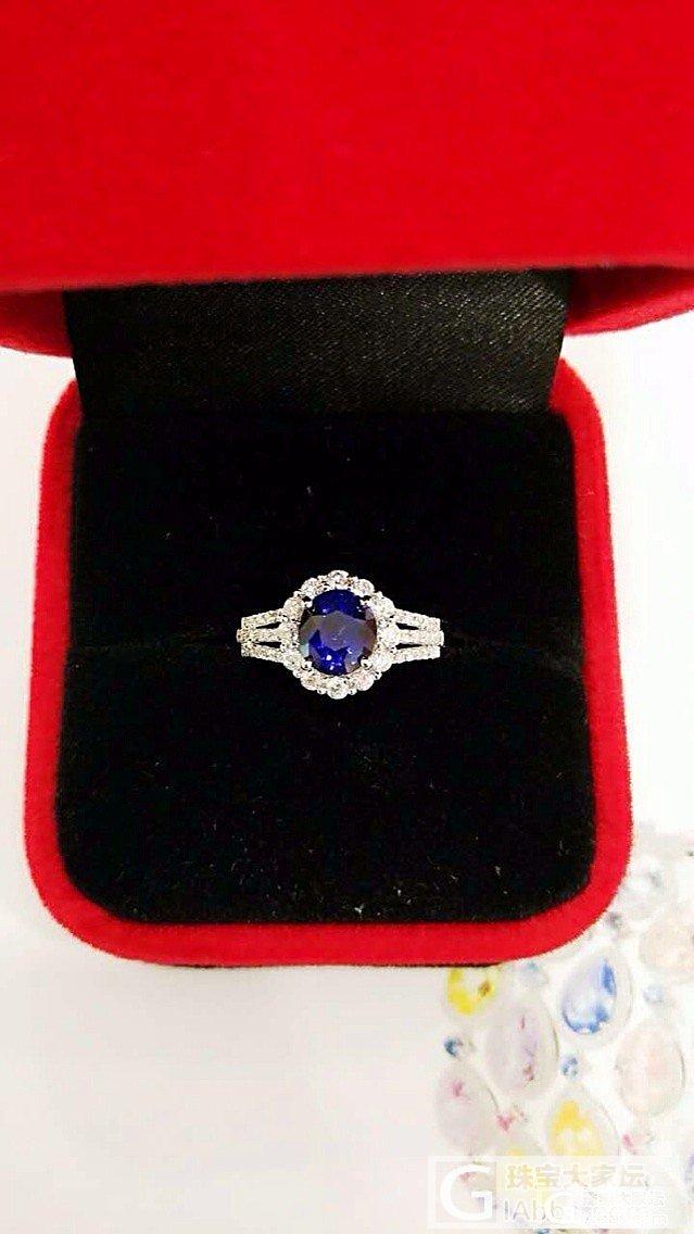 刚刚加工好的小小皇家蓝戒指~_蓝宝石琳琅满目刻面宝石