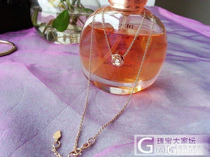 玫瑰玫瑰我爱你——秀一个玫瑰金镶嵌小钻石玫瑰锁骨链_金