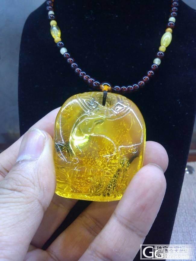近期有想团购琥珀雕刻件的可以看下(个..._珠宝