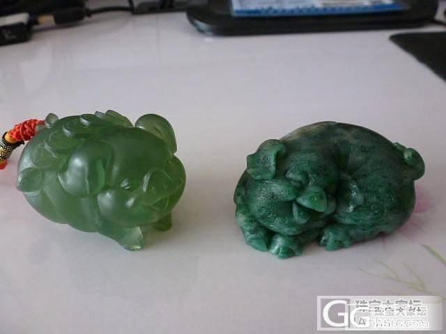 两只猪宝,大家喜欢哪一款?猜猜都是用..._传统玉石