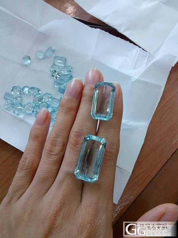 新入的一颗海蓝宝和绿碧玺,大神们帮忙..._宝石刻面宝石