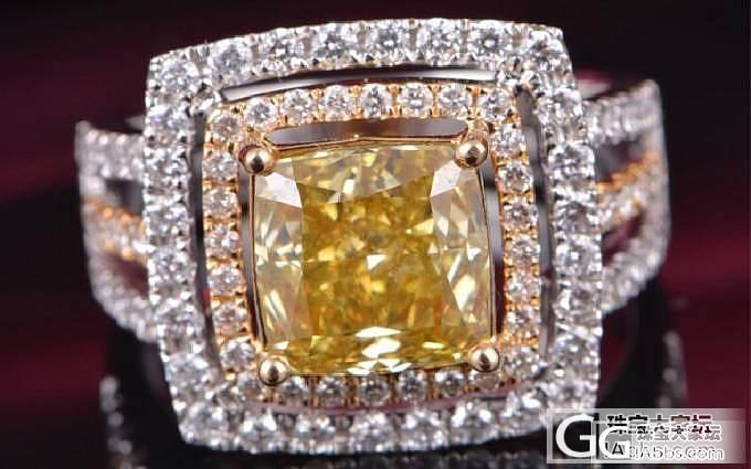 大神们帮看看一个3克拉的黄钻价值如何..._钻石
