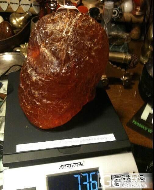 求鉴别,是不是琥珀原石!?非常重的石..._琥珀