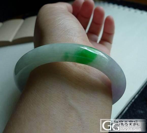 【凤凰家】7.11新货:阳绿双彩手镯_翡翠