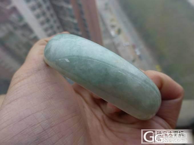 阳绿糯种5.6CM手镯带证书_翡翠