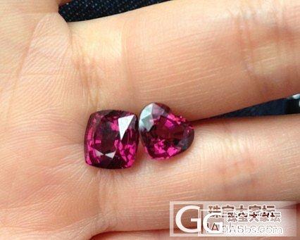 帮我看一下这两枚心形的铁镁铝榴石_石榴石刻面宝石