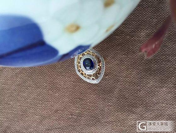 复古的魅力——蓝宝石戒指一枚