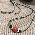 帮弟弟朋友设计的小链,主珠是精品保山南红苹果圆